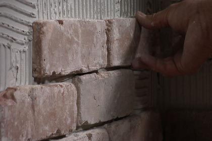 Vapor Barrier Old Mold Grown Between Exerior Wall And