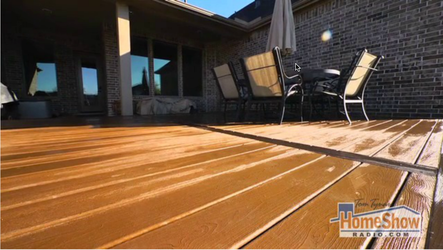 What size wood should I use when replacing the deck in Galveston?