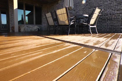 What can I use to seal my hard wood deck that has been pressure washed and cleaned?