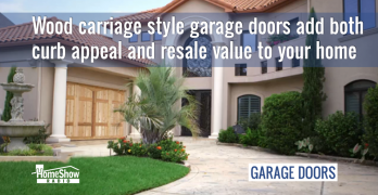 Wood carriage style residential garage doors bring high ROI