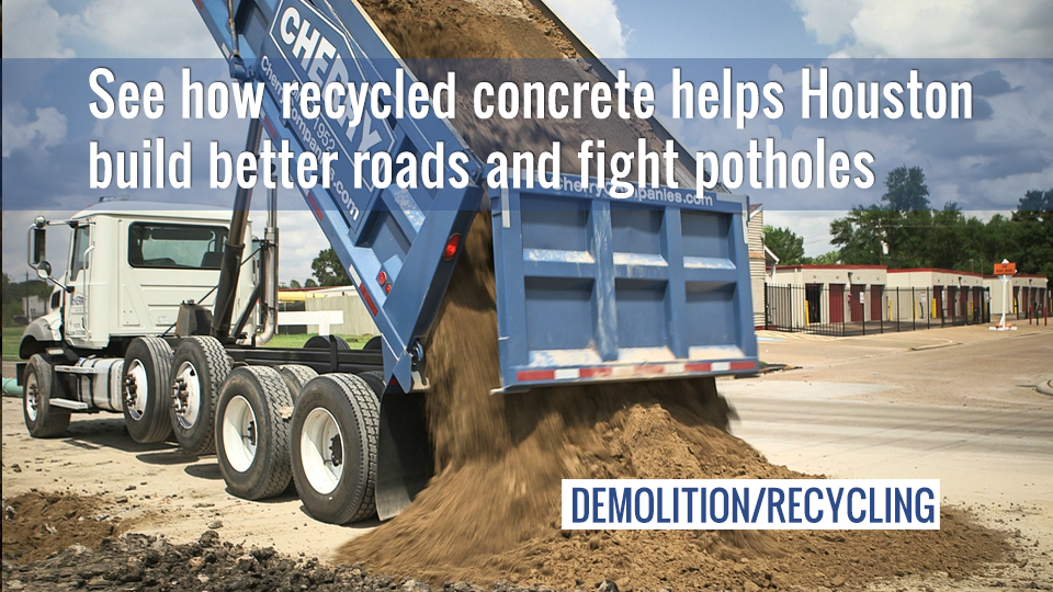 See how recycled concrete leads to better roads and fewer potholes