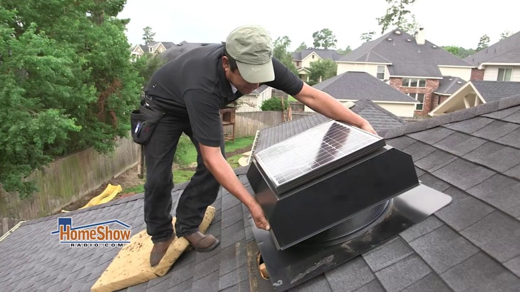 Can you give me information about adding solar powered attic fans to my new roof?