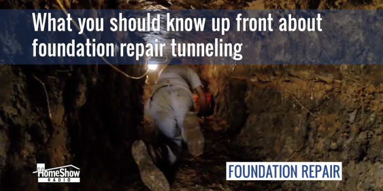 What you should know up front about foundation repair tunneling