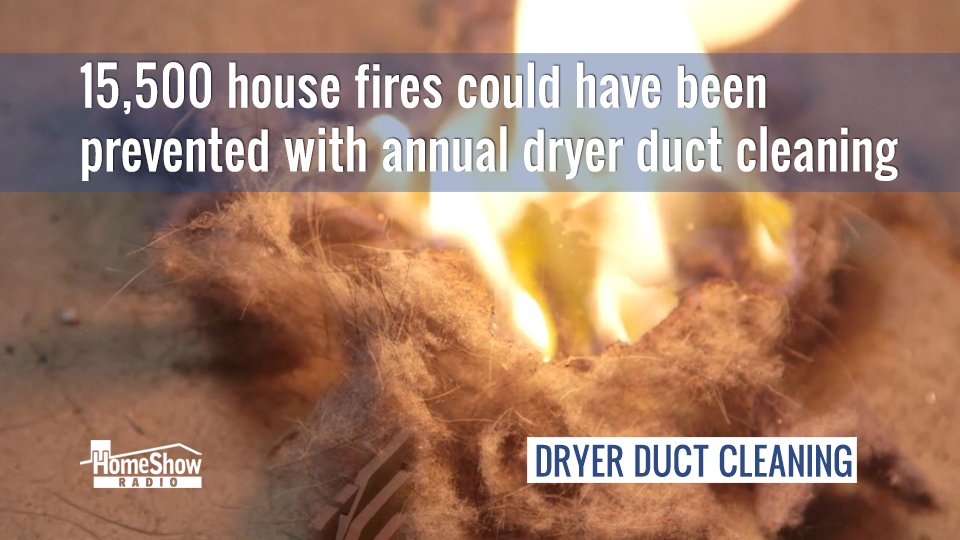 15,500 house fires could have been prevented by dryer duct cleaning