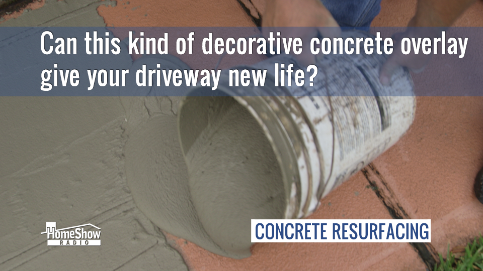 Can a decorative concrete overlay give your driveway new life?