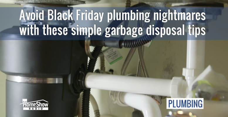 Avoid Black Friday plumbing nightmares with these simple garbage disposal tips