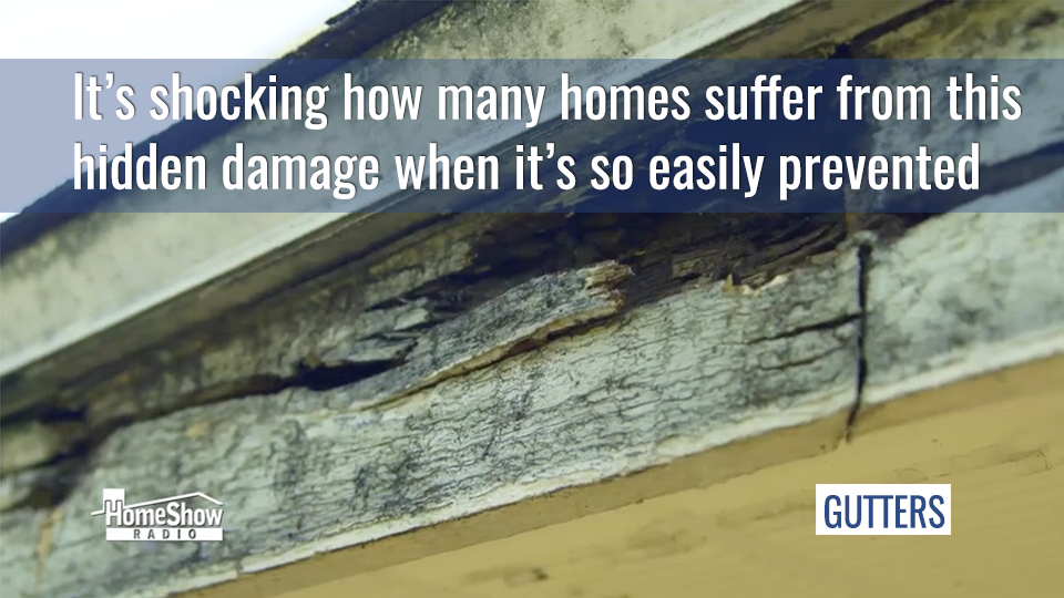 It's shocking how many homes suffer easily prevented gutter damage