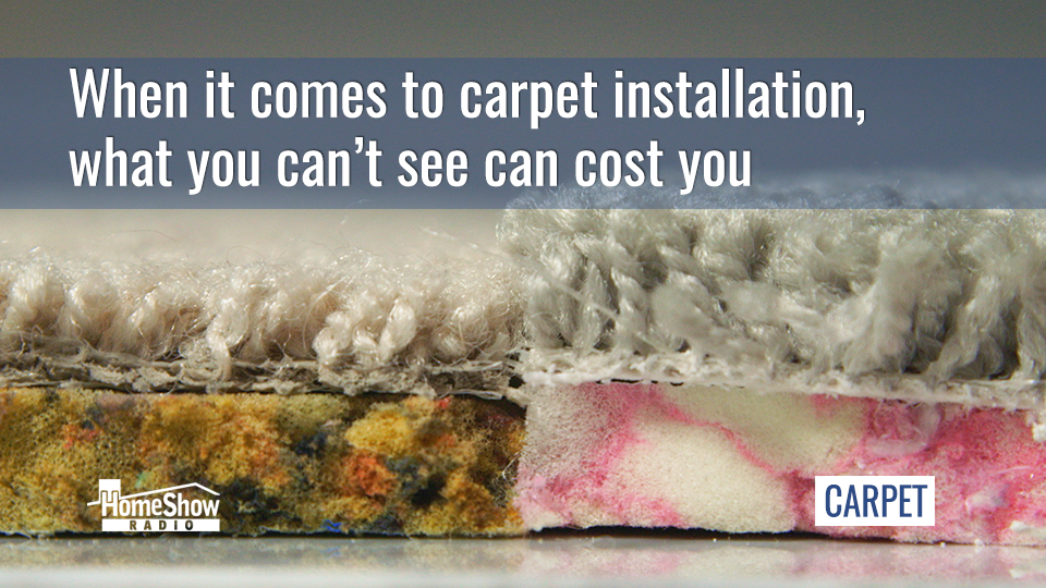 Going cheap on a carpet pad ruins your carpet and costs you money