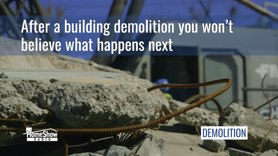 After a building demolition you won't believe what happens next.