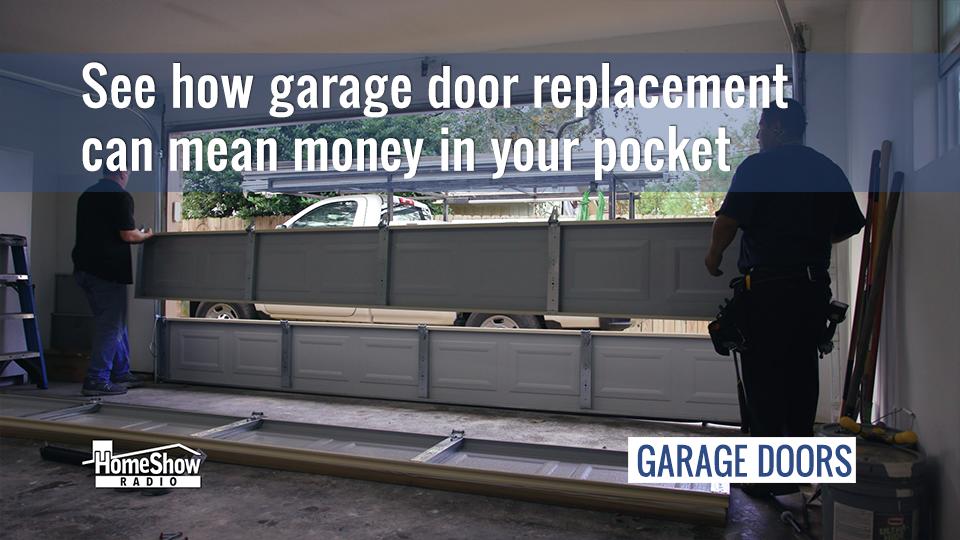 Biggest benefit of a garage door replacement? Money in your pocket.