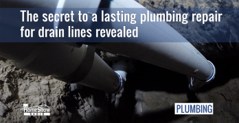 See how tunneling drain line plumbing repairs are done