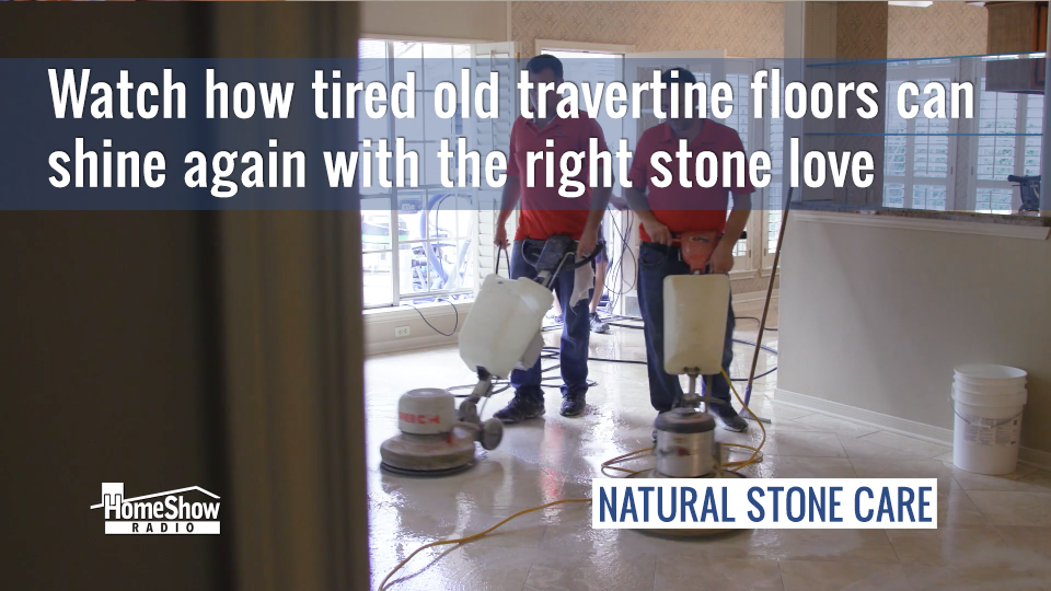 Old stone floors can shine again with the right polishing technique