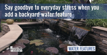 Escaping everyday stress is easy with a disappearing fountain