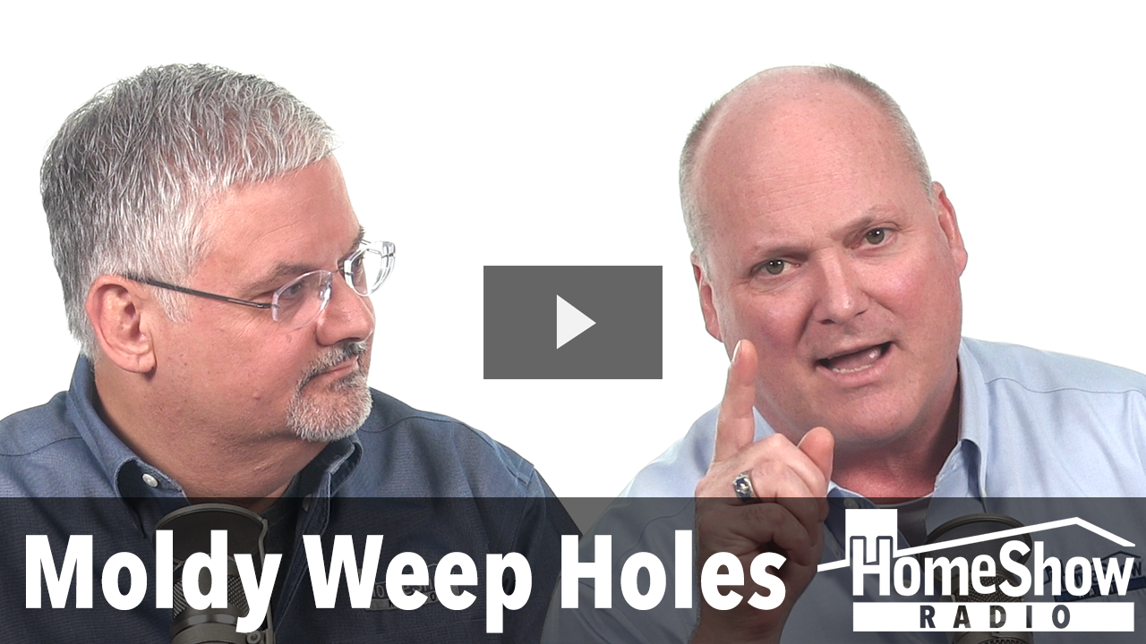 how to clean weep holes