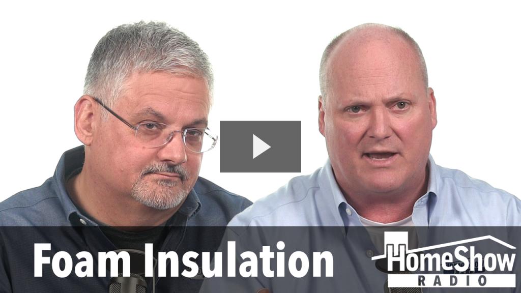 Under what circumstances does foam insulation work?