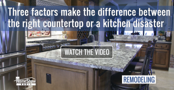 Three factors separate the right kitchen countertop from a kitchen disaster