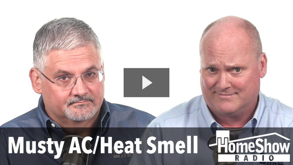 What's causing a musty smell when turning on my AC & Heat?