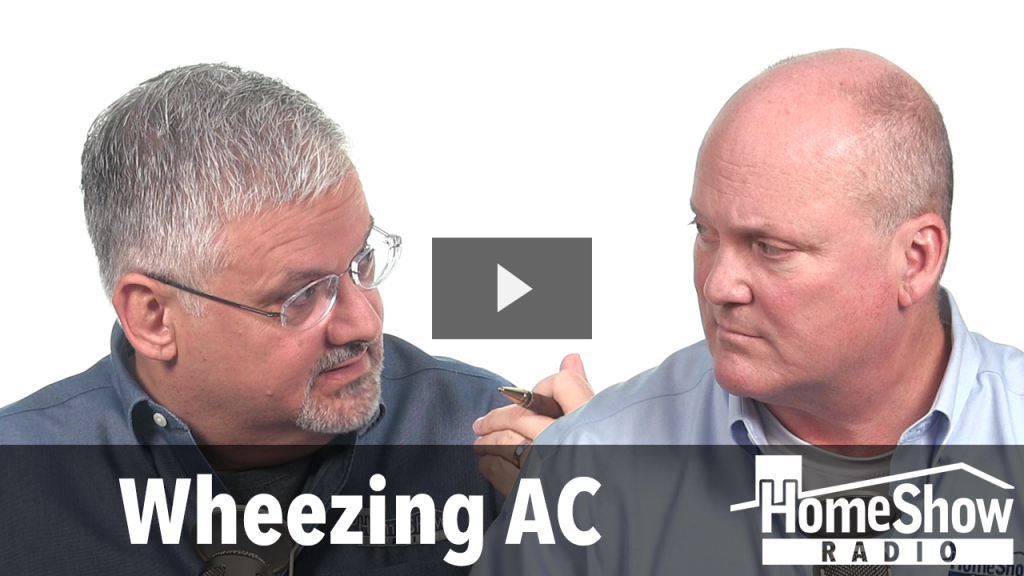 What's the cure for an AC making a wheezing sound?