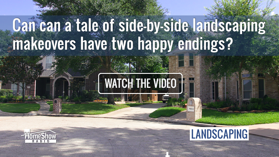 Side-by-side landscaping makeover with two happy endings?