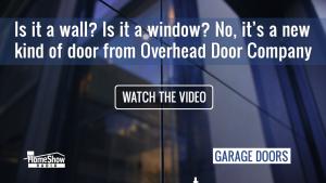 522 Envy glass garage Door: Window wall and door in one