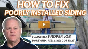 What happens when Hardie siding is installed wrong?