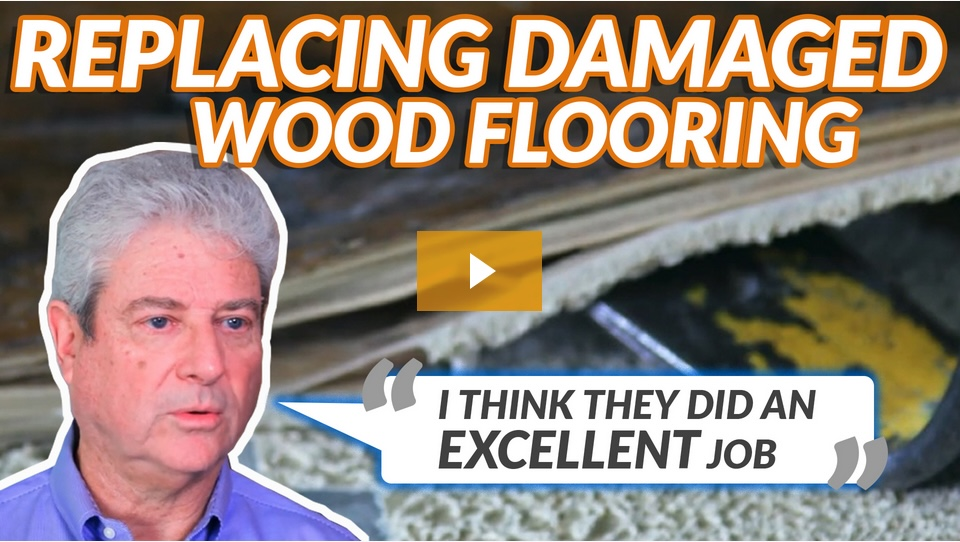 Replacing Water Damaged Wood Flooring: See the difference