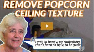 remove popcorn ceiling texture