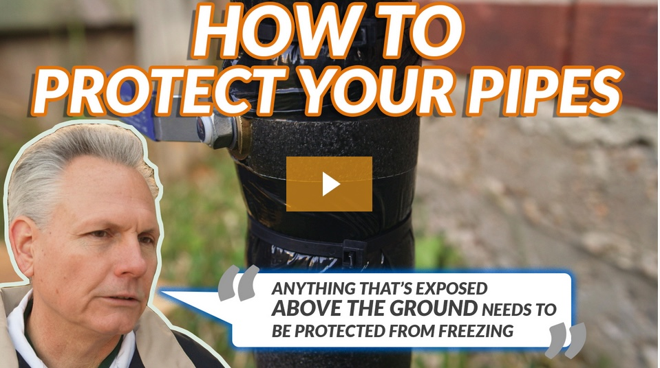 how to protect your pipes from a freeze