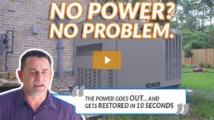 Whole Home Generator Installer Houston