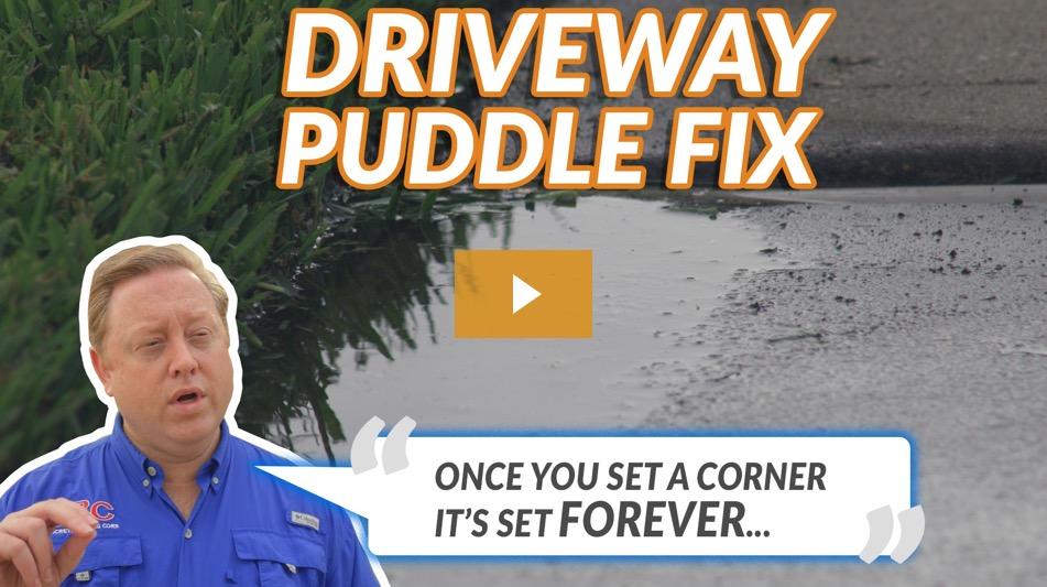 Driveway Leveling Puddle