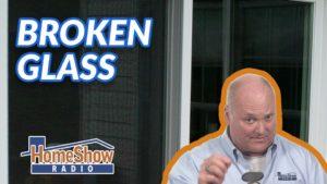 How do I repair broken glass in an exterior wood door without replacing the door